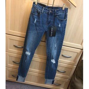Fashion Nova Jeans - Fashion Nova Tutti Frutti Ankle Jeans